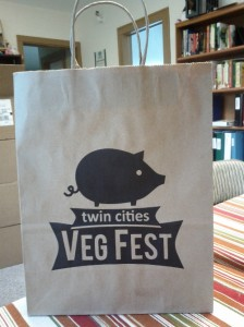 Twin Cities Veg Fest 2013 swag bag