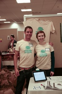 volunteers at the 2013 Twin Cities Veg Fest