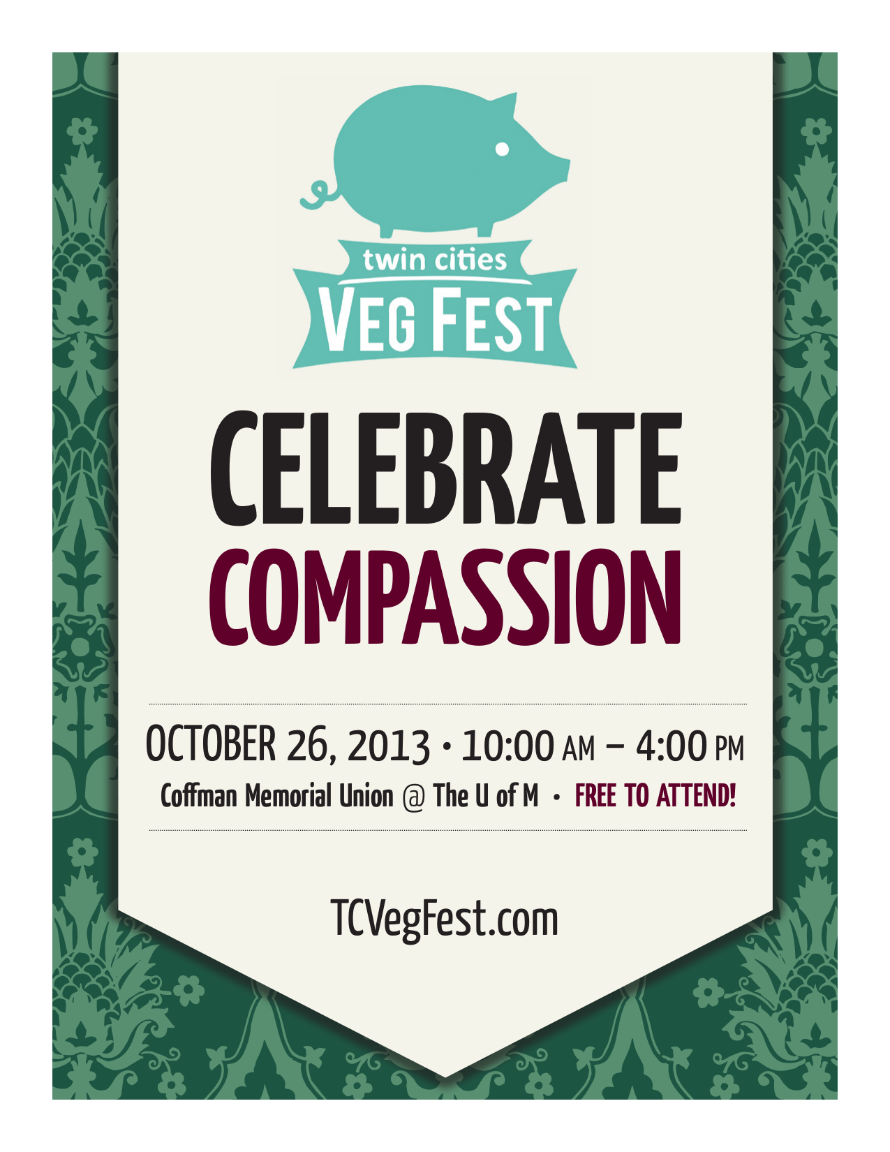 advertising veg fest from start to finish we distributed this small flyer at coffee shops and businesses